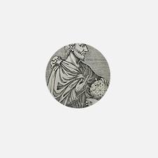 Pythagoras, Ancient Greek mathematicia Mini Button