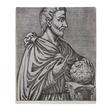 Pythagoras, Ancient Greek mathematic Throw Blanket