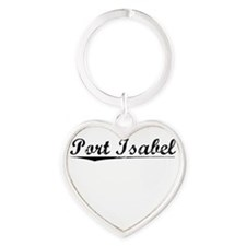 Port Isabel, Vintage Heart Keychain