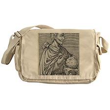 Pythagoras, Ancient Greek mathematic Messenger Bag