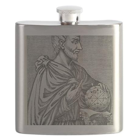 Pythagoras, Ancient Greek mathematician Flask