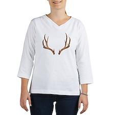 Ten-point deer antlers Women's Long Sleeve Shirt (3/4 Sleeve)