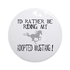 Rather - Adopted Mustang Ornament (Round)