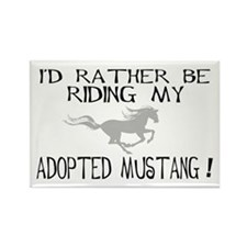 Rather - Adopted Mustang Rectangle Magnet