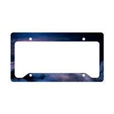 Moon above the clouds License Plate Holder