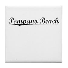 Pompano Beach, Vintage Tile Coaster
