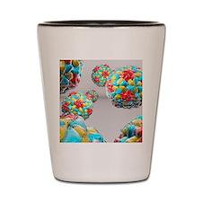 Rhinovirus particles Shot Glass
