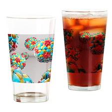 Rhinovirus particles Drinking Glass