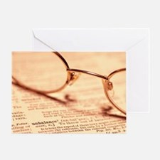 Reading glasses Greeting Card