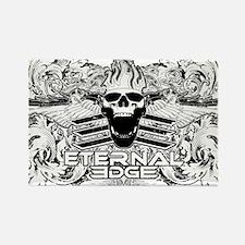 Eternal Edge-Skull Logo With Flou Rectangle Magnet