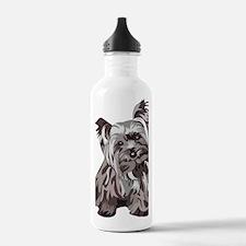 Neutral Yorkie Water Bottle