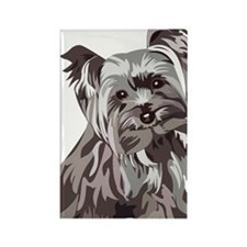 Neutral Yorkie Rectangle Magnet