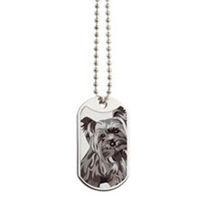 Neutral Yorkie Dog Tags