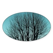 A bare tree and blue sky Decal