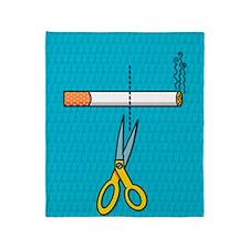Quitting smoking Throw Blanket