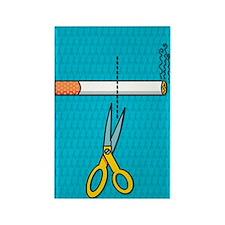 Quitting smoking Rectangle Magnet