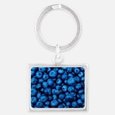 Ripe blueberries Landscape Keychain
