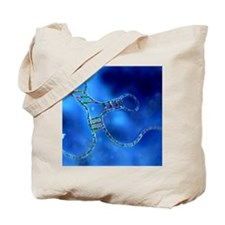 RNA interference, computer artwork Tote Bag