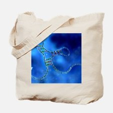 RNA interference, computer artwork Tote Bag