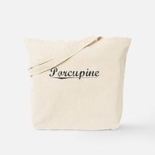 Porcupine, Vintage Tote Bag
