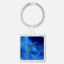 RNA interference, computer artwork Square Keychain