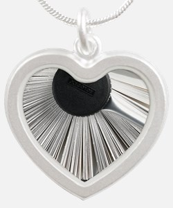 Rolodex Silver Heart Necklace