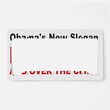 anti obama slogan License Plate Holder