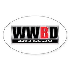 WW the Buhund D Oval Decal
