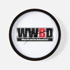 WW the Buhund D Wall Clock