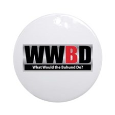WW the Buhund D Ornament (Round)