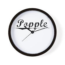 Popple, Vintage Wall Clock