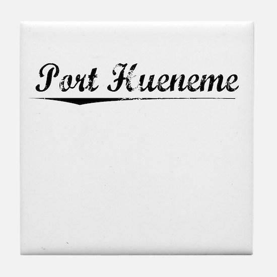 Port Hueneme, Vintage Tile Coaster