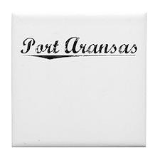 Port Aransas, Vintage Tile Coaster
