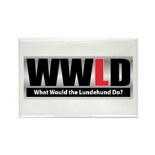 WW the Lundehund D Rectangle Magnet (100 pack)