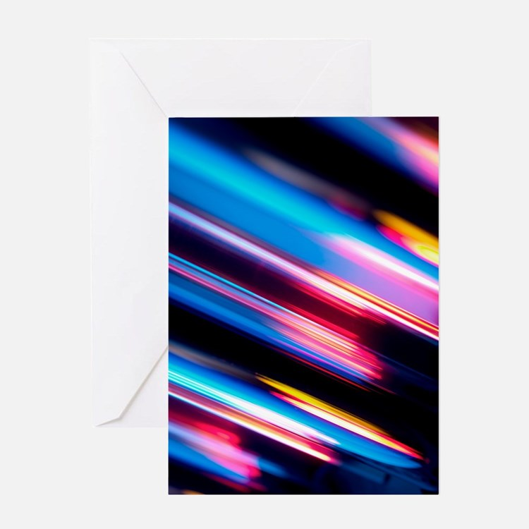 Reflected light, abstract image Greeting Card