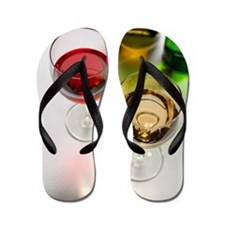 Red and white wine Flip Flops