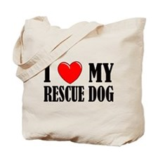 Love My Rescue Dog Tote Bag