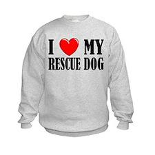 Love My Rescue Dog Sweatshirt