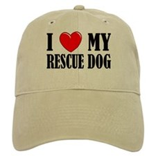 Love My Rescue Dog Baseball Cap