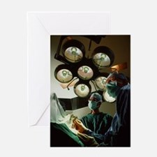 Robot-aided surgery Greeting Card