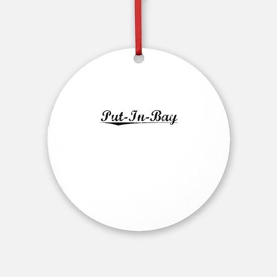 Put-In-Bay, Vintage Round Ornament