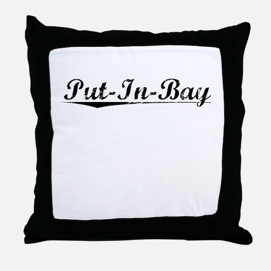 Put-In-Bay, Vintage Throw Pillow