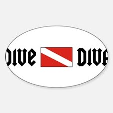 Dive Diva Oval Decal