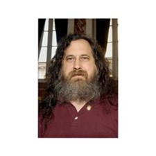Richard Stallman, software develo Rectangle Magnet