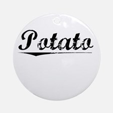 Potato, Vintage Round Ornament