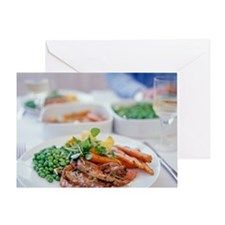 Roast meal Greeting Card