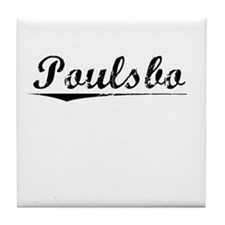 Poulsbo, Vintage Tile Coaster