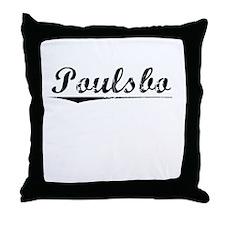 Poulsbo, Vintage Throw Pillow