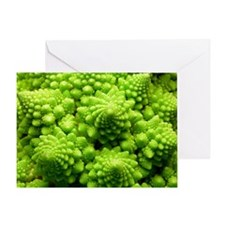 Romanesco cauliflower head Greeting Card