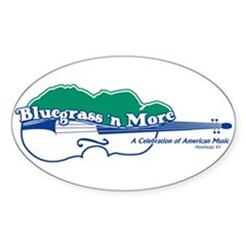 Bluegrass 'n More Oval Decal